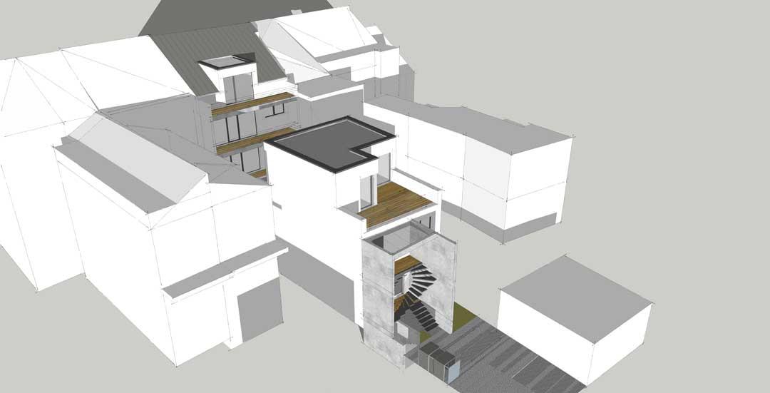 Visualisierung des Bauvorhabens Eigentumswohnungen in Euskirchen von Articum.