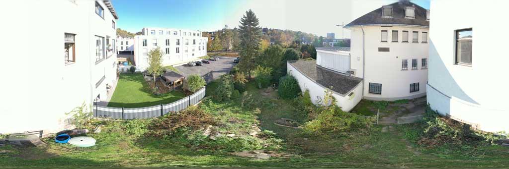Der Ausblick aus der Eigentumswohnung Höhe Erdgeschoss.