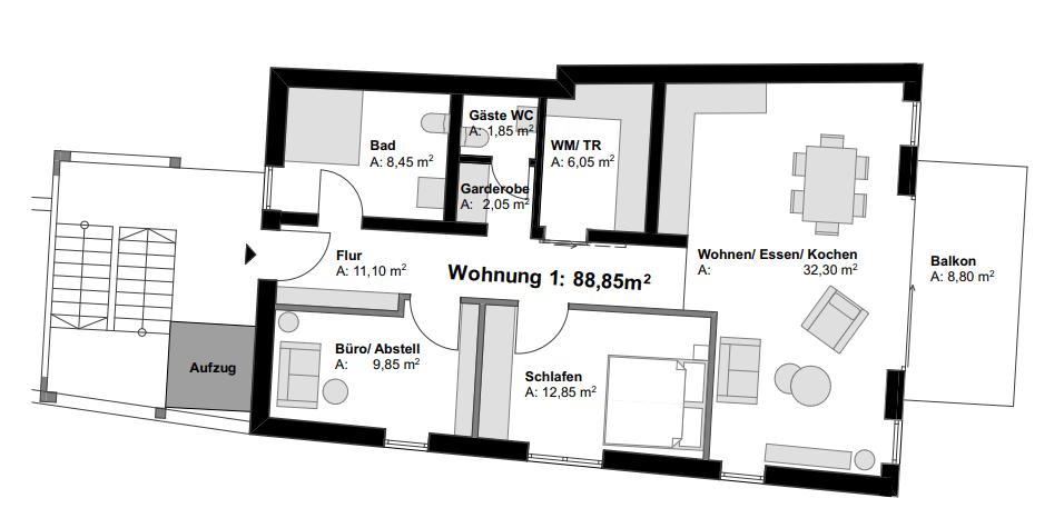 Eigentumswohnung Vallendar Grundriss 1
