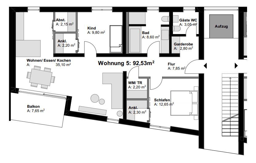 Grundriss 5 Eigentumswohnung in Vallendar