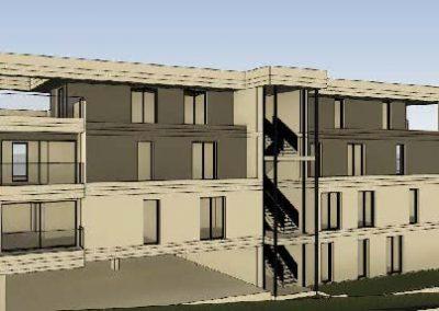 West-Ansicht des Gebäudeskomplexes mit 9 Eigentumswohungen in Vallendar - Haus 2.
